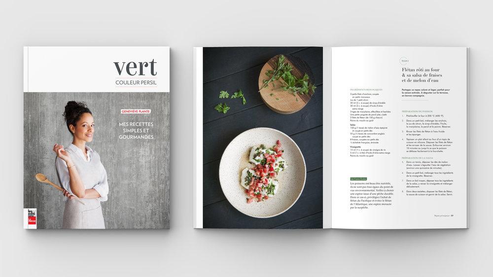 Nouvelle parution aux éditions La Presse: «Vert Couleur Persil-Mes recettes simples et gourmandes» de Geneviève Plante