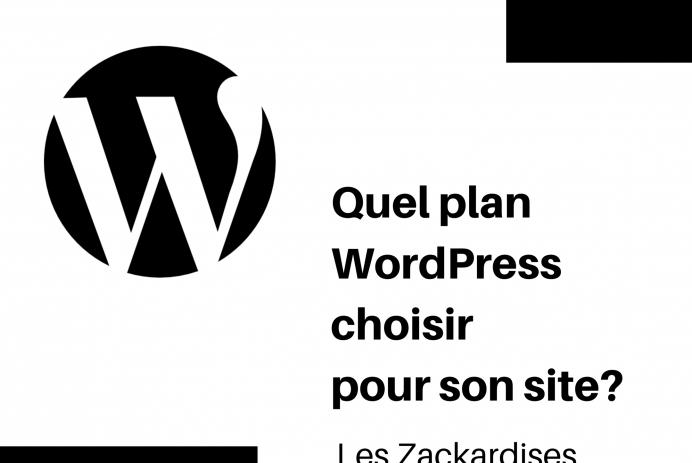 Quel plan WordPress choisir pour son site?