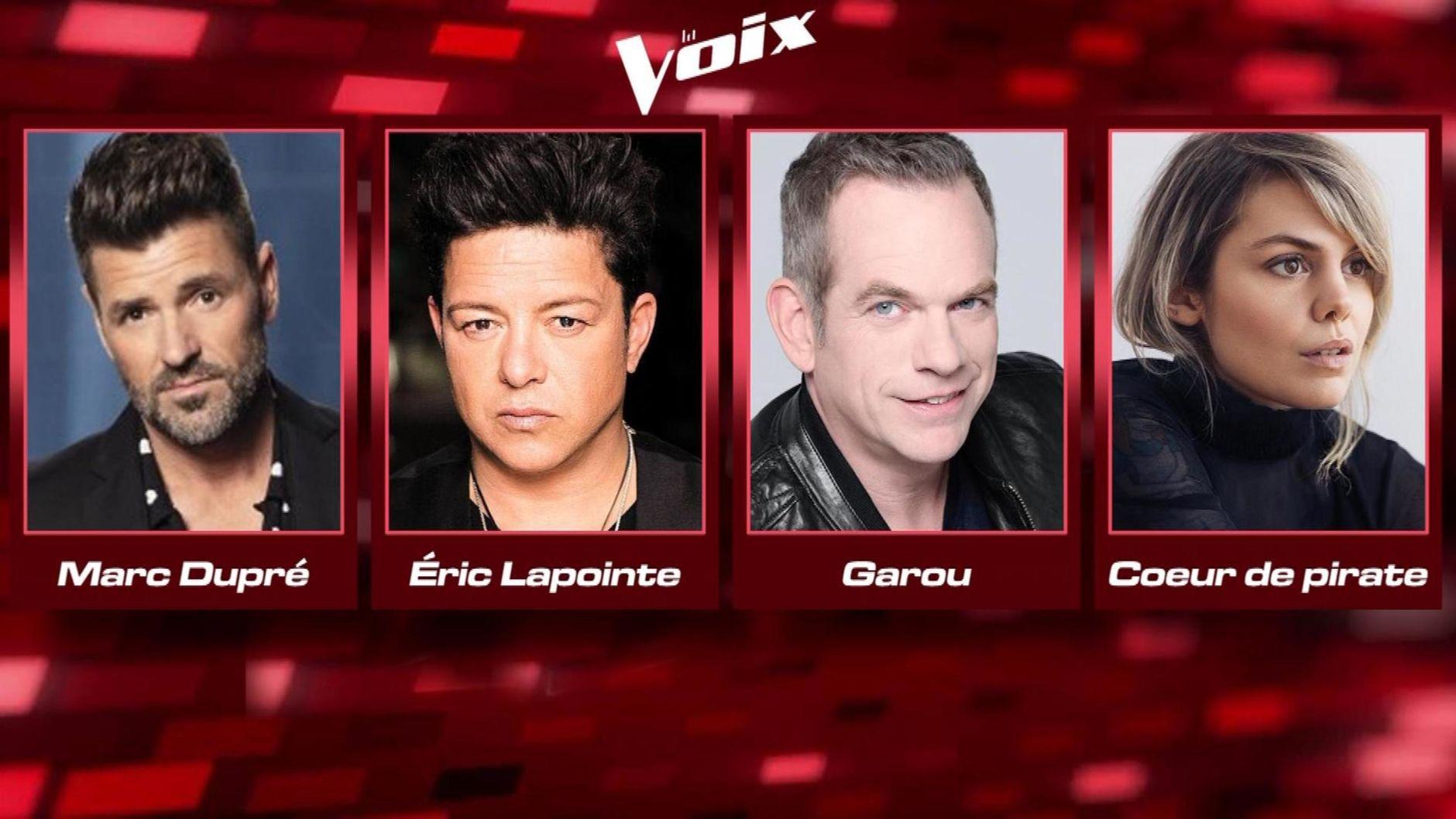 4 coachs la Voix 2020