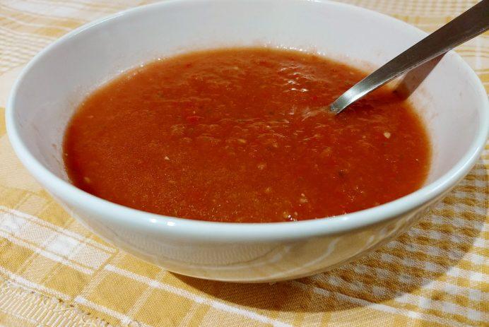 Gaspacho classique sans produits laitiers