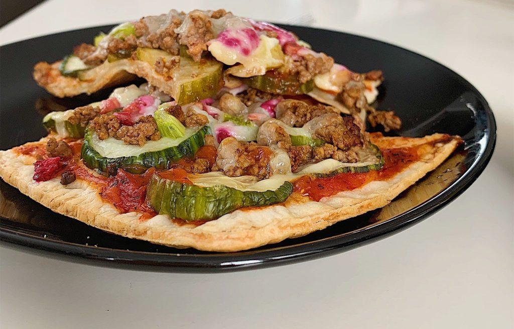 Pizza au boeuf haché