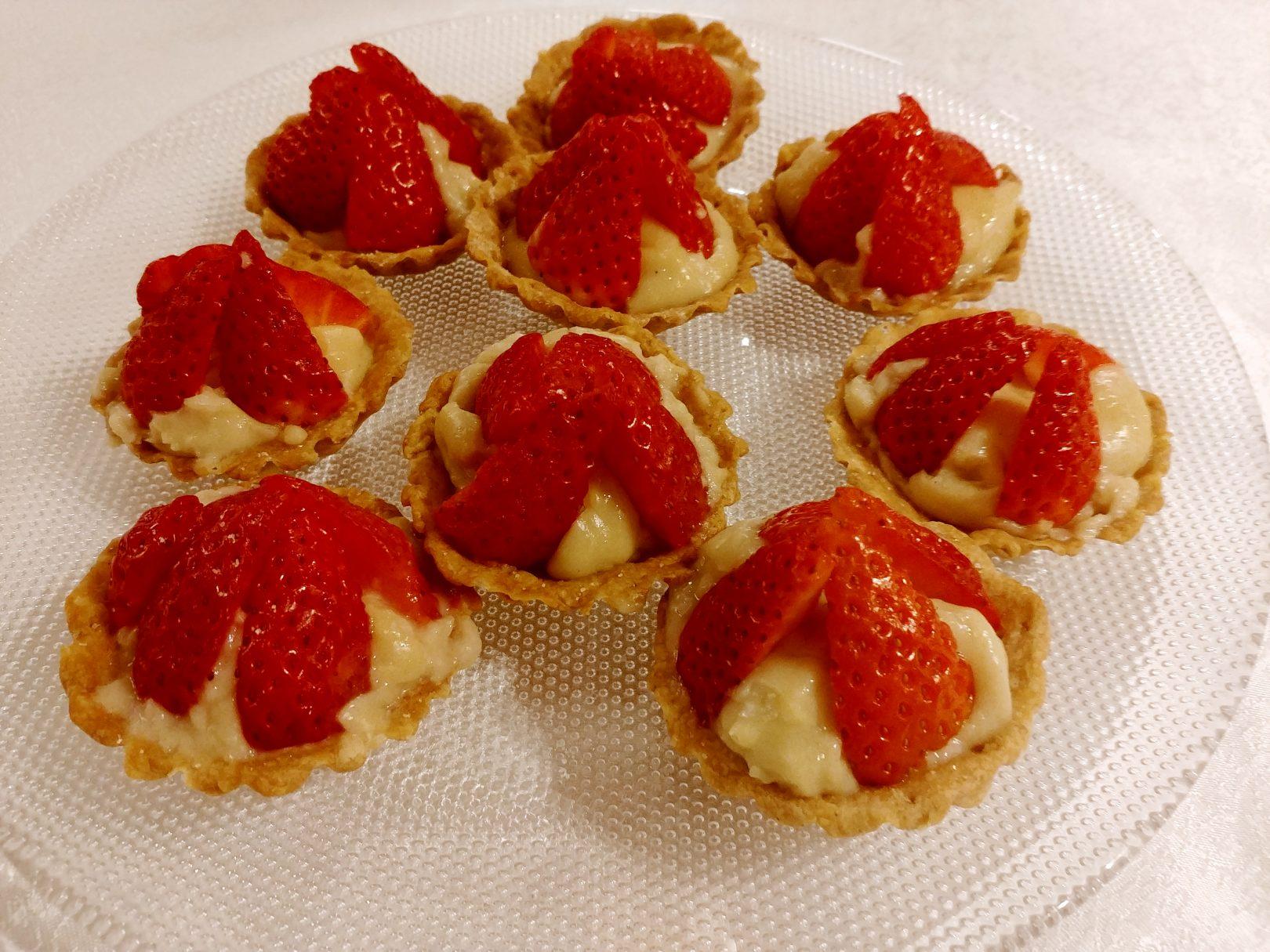 Tartelettes aux fraises sans lait