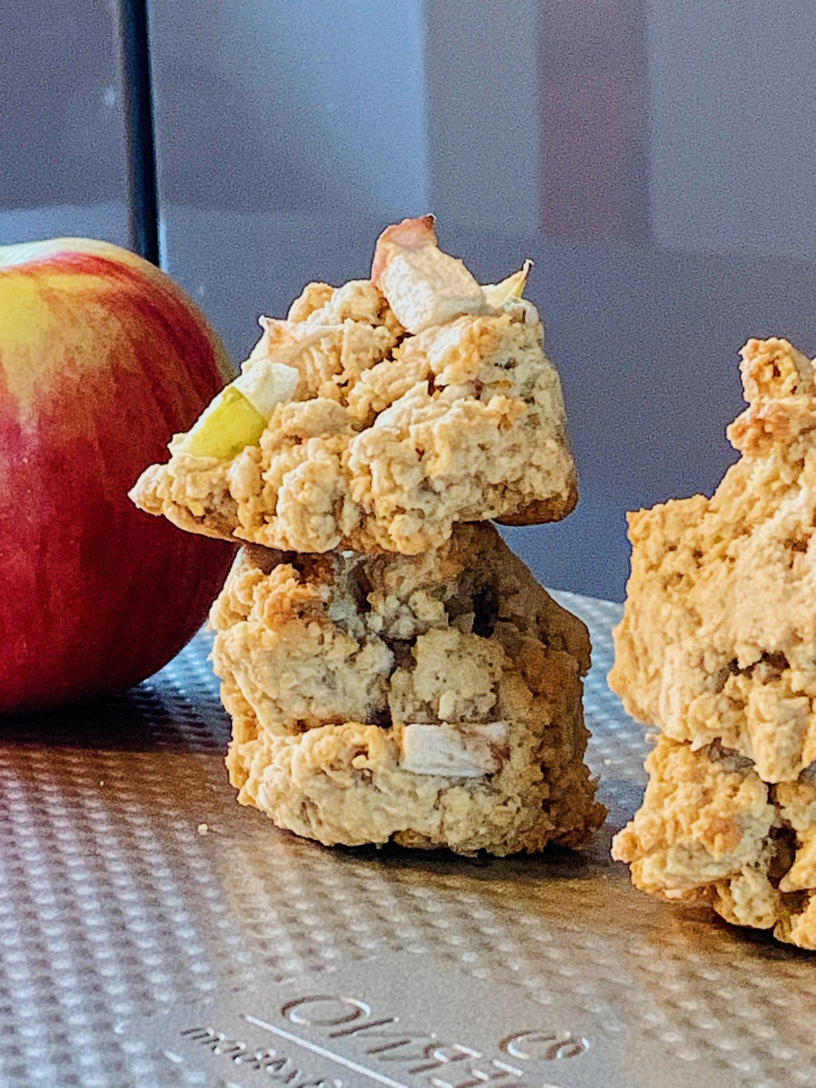 Biscuits à l'avoine et aux pommes