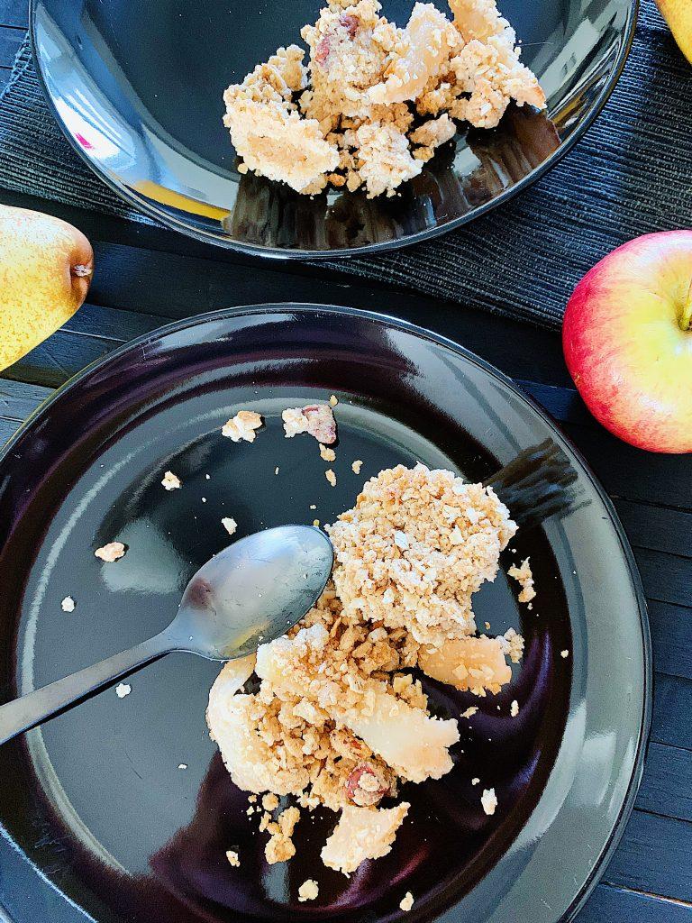 Croustade aux pommes et poires