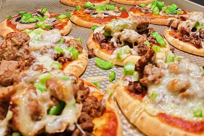 Pizza au boeuf haché sans gluten