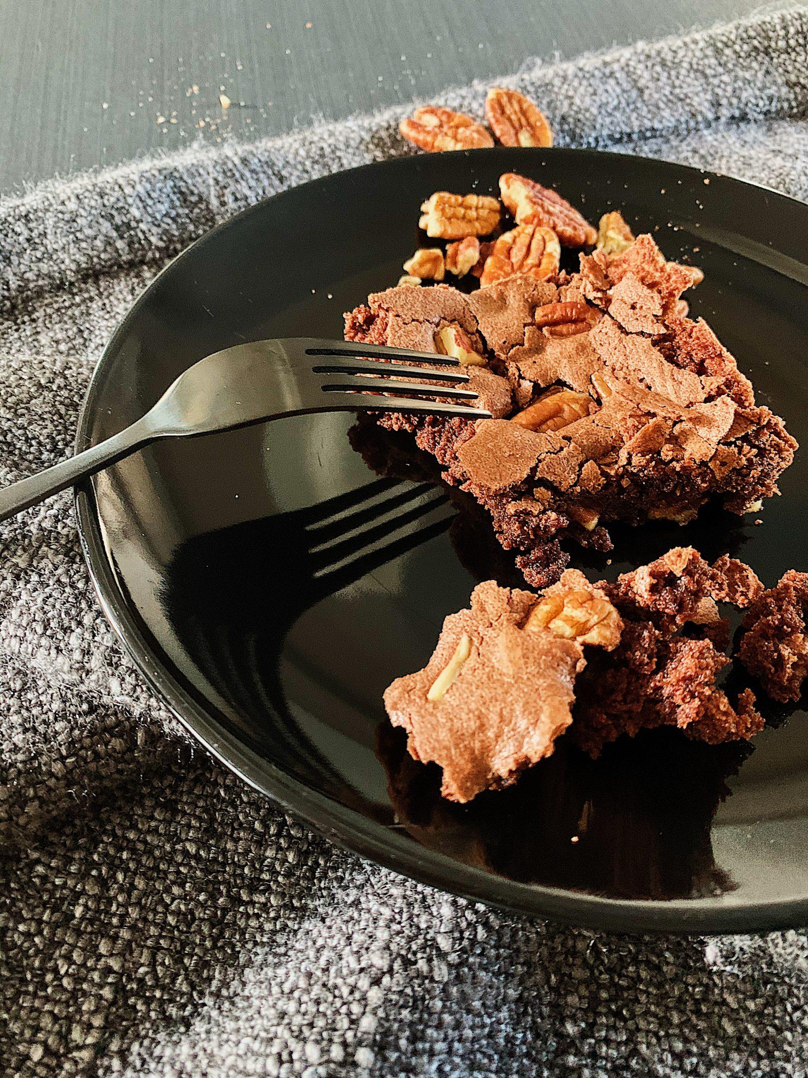 Brownies végétaliens aux pacanes