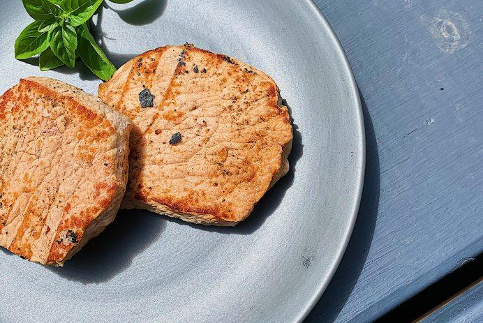 Longe de porc à l'orange et gingembre sur BBQ