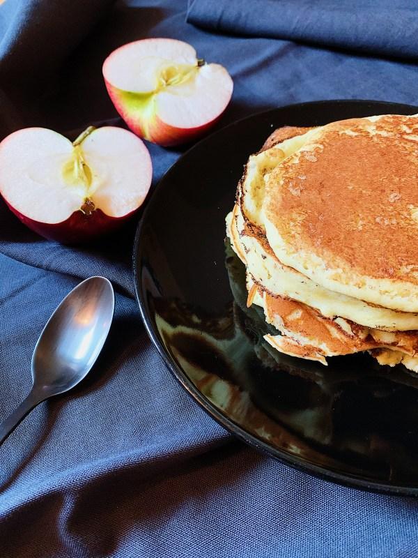 Pancakes à la compote de pommes