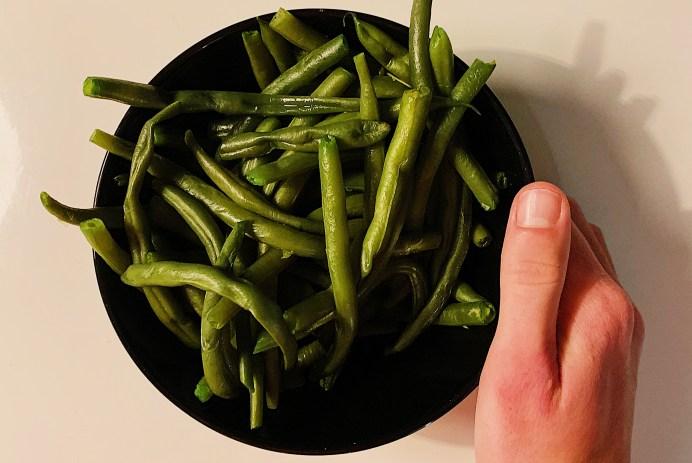 Haricots verts à la vapeur