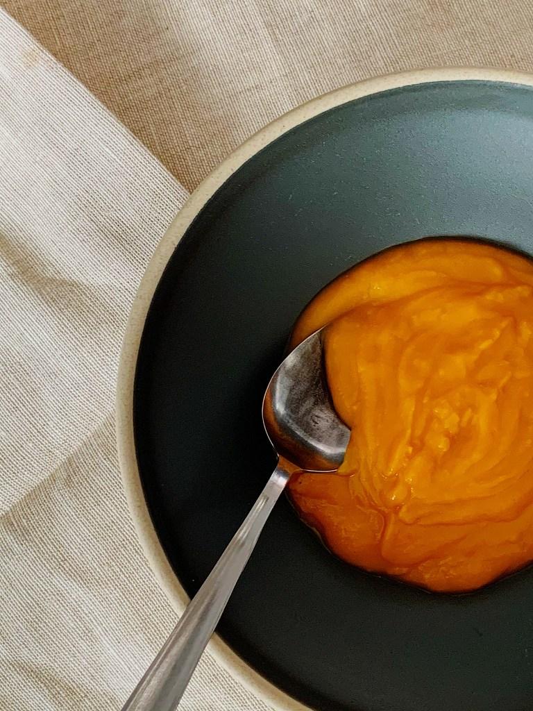 Potage aux carottes et à la courge Butternut
