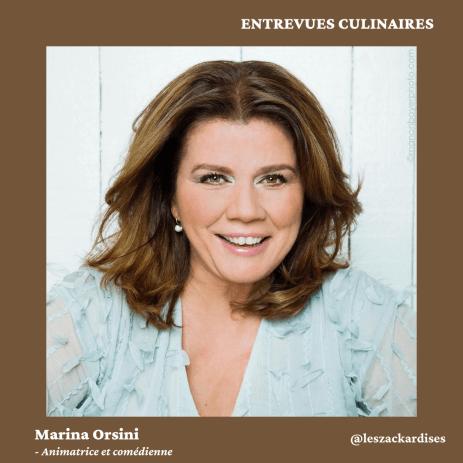 Entrevues culinaires: Marina Orsini