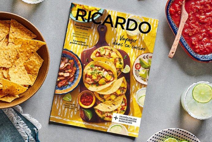 Nouveau magazine Ricardo «Voyager dans sa cuisine»