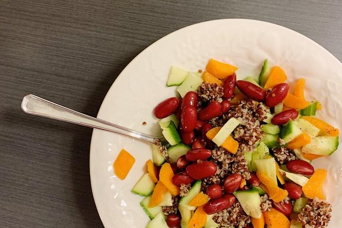Salade de quinoa aux haricots rouges