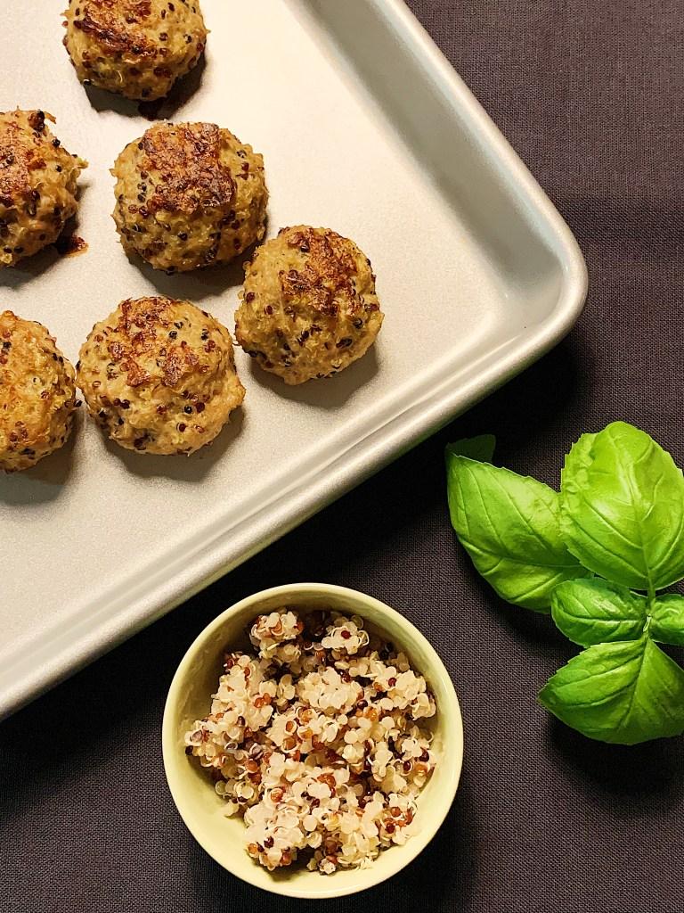 Croquettes de poulet haché et quinoa