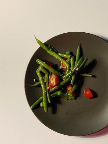 Salade de tomates et de haricots