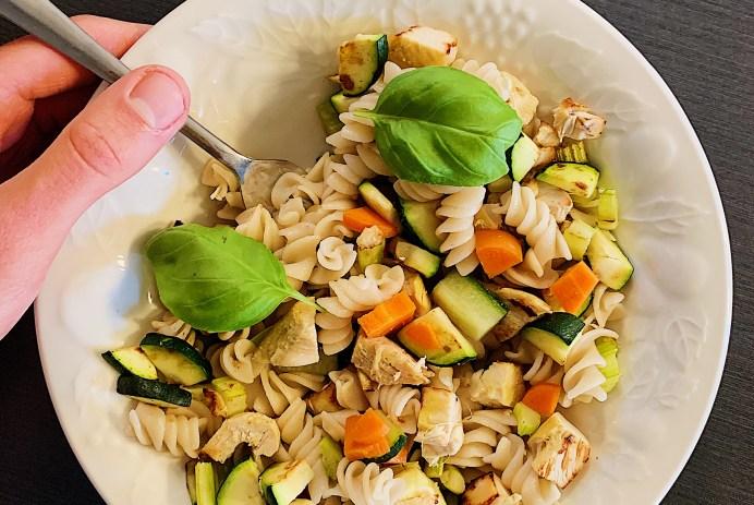Salade de fusillis et poulet