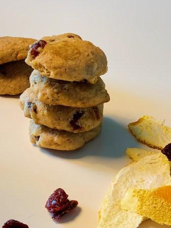 Biscuits aux canneberges et à l'orange