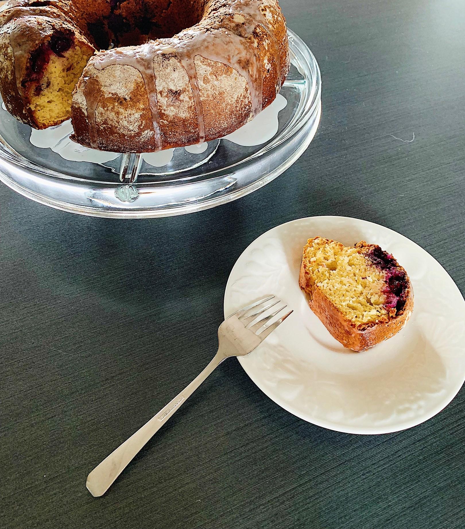 Gâteau Bundt au bleuets et citron
